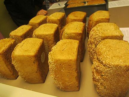 natte degen geven lekker brood